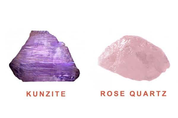 Kunzite vs Rose Quartz